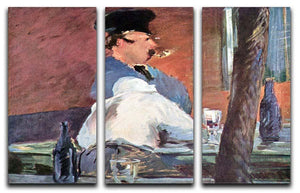 Tavern by Manet 3 Split Panel Canvas Print - Canvas Art Rocks - 1