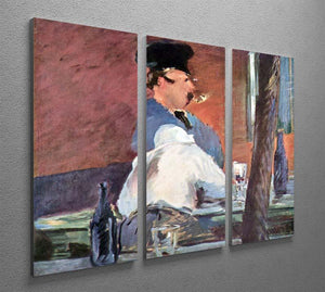 Tavern by Manet 3 Split Panel Canvas Print - Canvas Art Rocks - 2