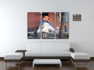 Tavern by Manet 3 Split Panel Canvas Print - Canvas Art Rocks - 3