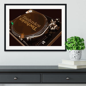 Technics 1210 Record Deck Framed Print - Canvas Art Rocks - 1