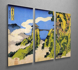 Temple bridge by Hokusai 3 Split Panel Canvas Print - Canvas Art Rocks - 2