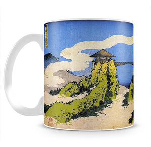 Temple bridge by Hokusai Mug - Canvas Art Rocks - 2