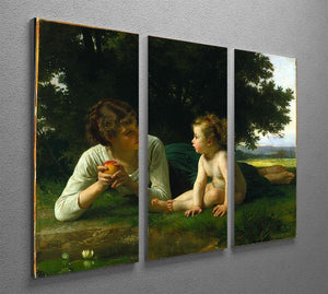 Temptation By Bouguereau 3 Split Panel Canvas Print - Canvas Art Rocks - 2