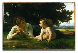 Temptation By Bouguereau Canvas Print or Poster  - Canvas Art Rocks - 1