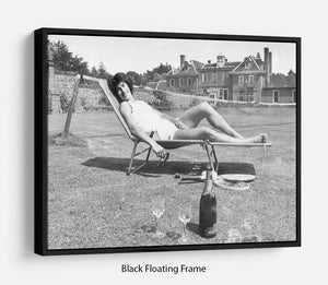 Tennis Player Virginia Wade Floating Frame Canvas