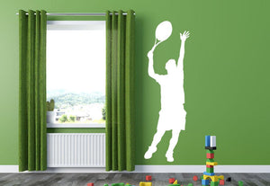 Tennis Player Wall Sticker - Canvas Art Rocks