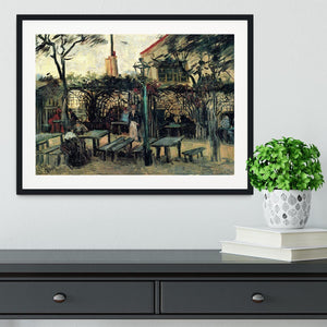 Terrace of a Cafe on Montmartre La Guinguette1 by Van Gogh Framed Print - Canvas Art Rocks - 1