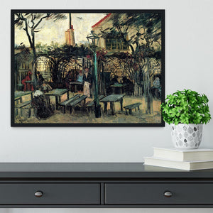 Terrace of a Cafe on Montmartre La Guinguette1 by Van Gogh Framed Print - Canvas Art Rocks - 2