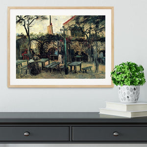 Terrace of a Cafe on Montmartre La Guinguette1 by Van Gogh Framed Print - Canvas Art Rocks - 3