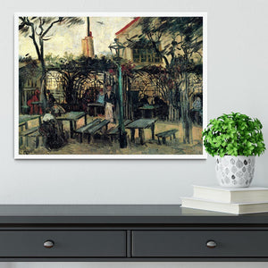 Terrace of a Cafe on Montmartre La Guinguette1 by Van Gogh Framed Print - Canvas Art Rocks -6