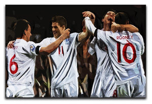 Terry Lampard Gerard and rooney England Canvas Print or Poster  - Canvas Art Rocks - 1
