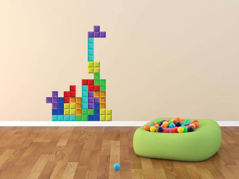 Tetris Wall Sticker - Canvas Art Rocks - 1