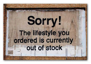 Banksy The Lifestyle You Ordered Print - Canvas Art Rocks - 1