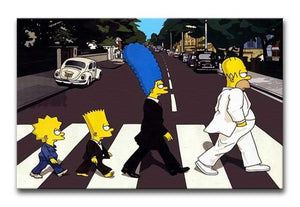 The Simpsons Abbey Road Print - Canvas Art Rocks