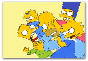 Bart Simpson Attack Print - Canvas Art Rocks