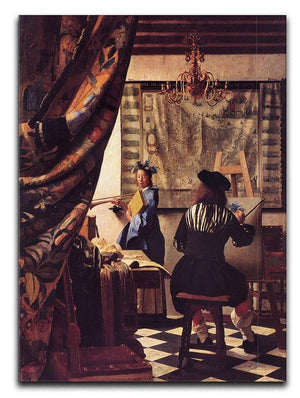 The Allegory of Painting by Vermeer Canvas Print or Poster - Canvas Art Rocks - 1