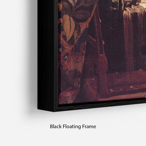 The Allegory of Painting by Vermeer Floating Frame Canvas - Canvas Art Rocks - 2