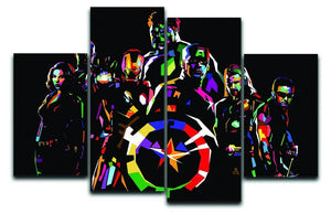 The Avengers Pop Art 4 Split Panel Canvas  - Canvas Art Rocks - 1