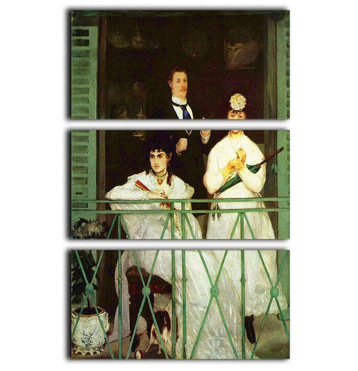The Balcony by Manet 3 Split Panel Canvas Print
