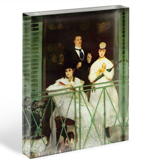 The Balcony by Manet Acrylic Block - Canvas Art Rocks - 1