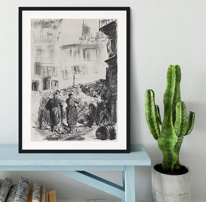 The Barricade by Manet Framed Print