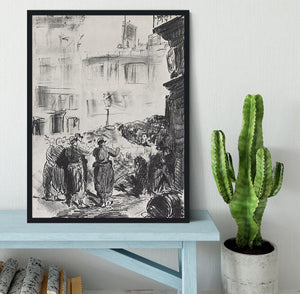 The Barricade by Manet Framed Print - Canvas Art Rocks - 2