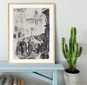 The Barricade by Manet Framed Print - Canvas Art Rocks - 3