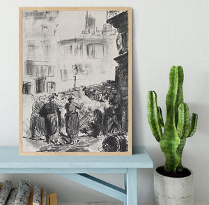 The Barricade by Manet Framed Print - Canvas Art Rocks - 4
