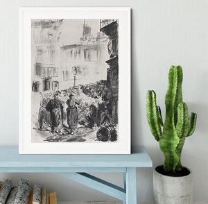 The Barricade by Manet Framed Print - Canvas Art Rocks - 5