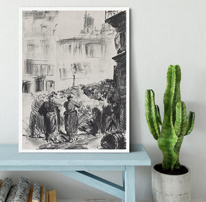The Barricade by Manet Framed Print - Canvas Art Rocks -6
