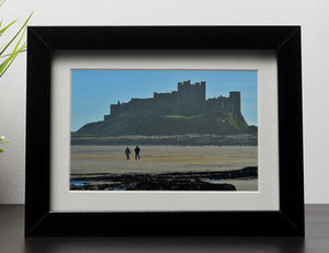 The Beach at Bamburgh Framed Print - Canvas Art Rocks - 1