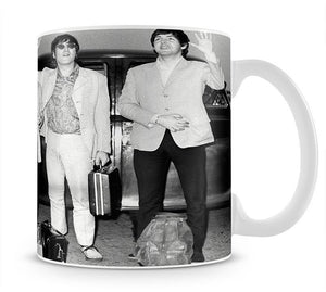 The Beatles and Brian Epstein at London Airport Mug - Canvas Art Rocks - 1