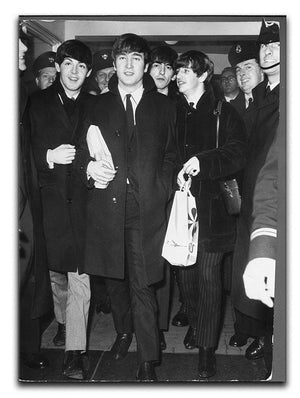 The Beatles arrive at London Airport Canvas Print or Poster  - Canvas Art Rocks - 1