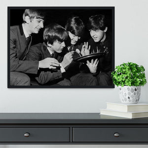 The Beatles before going on stage Framed Print - Canvas Art Rocks - 2