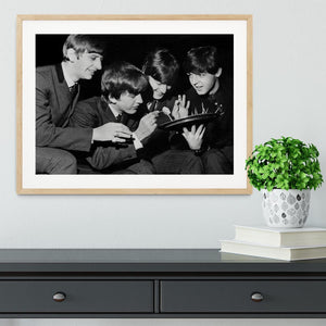 The Beatles before going on stage Framed Print - Canvas Art Rocks - 3
