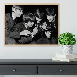 The Beatles before going on stage Framed Print - Canvas Art Rocks - 4