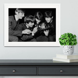 The Beatles before going on stage Framed Print - Canvas Art Rocks - 5