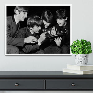 The Beatles before going on stage Framed Print - Canvas Art Rocks -6