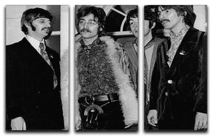 The Beatles in 1967 3 Split Panel Canvas Print - Canvas Art Rocks - 1