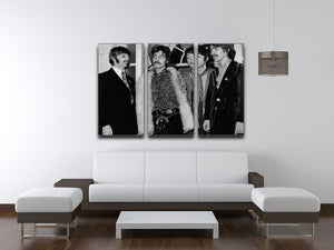 The Beatles in 1967 3 Split Panel Canvas Print - Canvas Art Rocks - 3