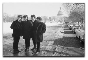 The Beatles in Washington Canvas Print or Poster  - Canvas Art Rocks - 1