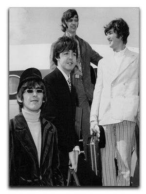 The Beatles leaving London Airport Canvas Print or Poster  - Canvas Art Rocks - 1