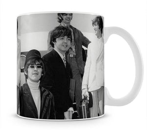 The Beatles leaving London Airport Mug - Canvas Art Rocks - 1