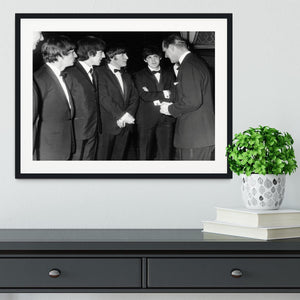 The Beatles meet Prince Philip Framed Print - Canvas Art Rocks - 1