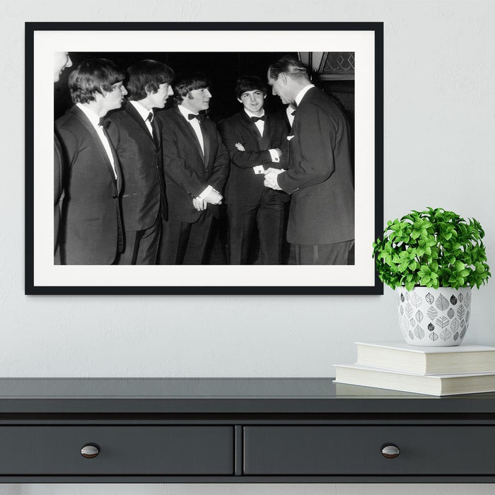 The Beatles meet Prince Philip Framed Print