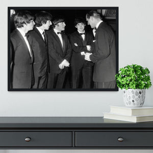 The Beatles meet Prince Philip Framed Print - Canvas Art Rocks - 2