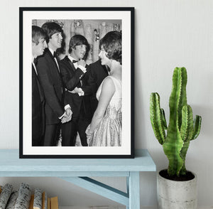The Beatles meet Princess Margaret Framed Print - Canvas Art Rocks - 1