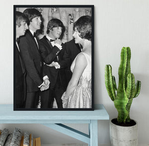 The Beatles meet Princess Margaret Framed Print - Canvas Art Rocks - 2