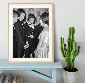 The Beatles meet Princess Margaret Framed Print - Canvas Art Rocks - 3