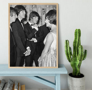 The Beatles meet Princess Margaret Framed Print - Canvas Art Rocks - 4